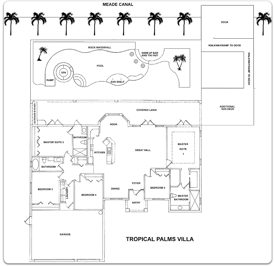 Tropical Palms Villa Floor Map